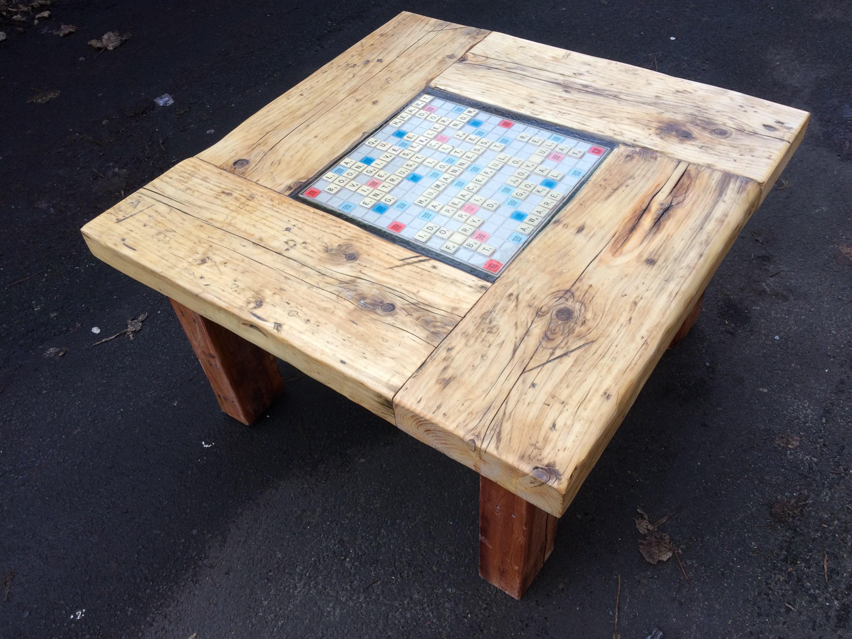 Magnificent Coffee Table Scrabble Inlay Uwap Interior Chair Design Uwaporg
