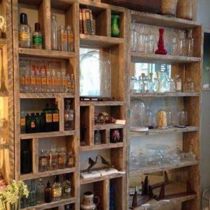 Industrial furniture bookcase 12