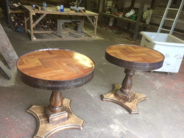 Industrial bar restaurant furniture matching tables