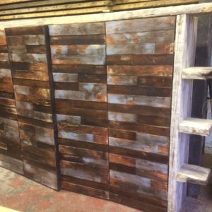 Industrial furniture reclaimed wall covering 3
