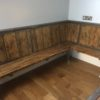 Industrial kitchen table and benches
